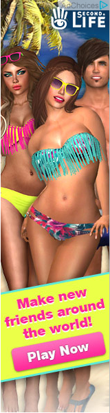 Second Life advert example